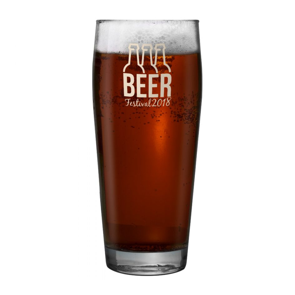 Printed Promotional Willi Becher Pint Glass